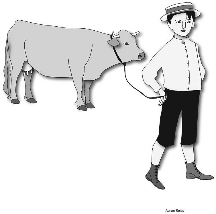 Junge mit Kuh, Kurt Guggenheim, Alles in Allem, Aaron Reiss