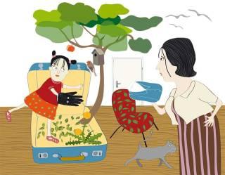 Alma zieht um, Illustration