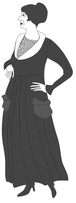 Junge Frau um 1915, Kurt Guggenheim, Alles in Allem, Frau Bariffi