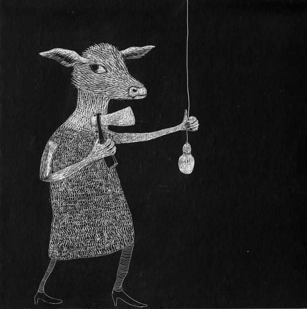 Ein Reh macht das Licht aus - Neujahrskarte