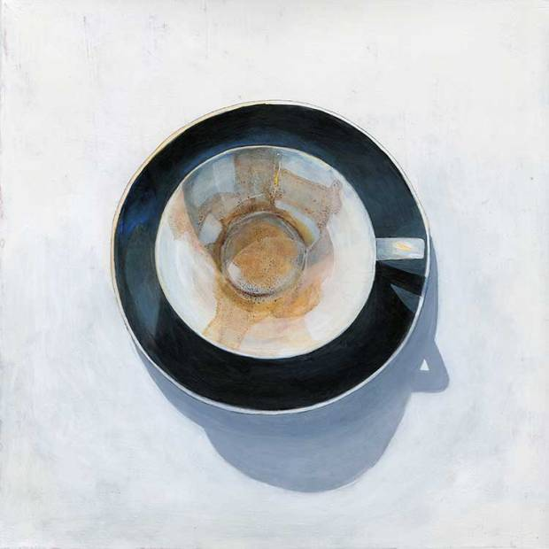 Kaffeesatz lesen, Neujahrskarte