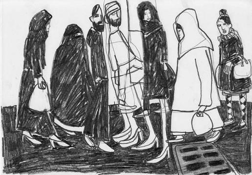 Menschen unterwegs, Skizzenbuch