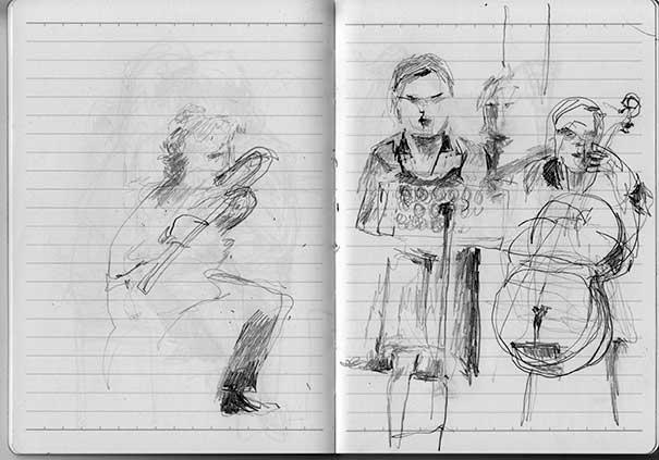 Musizierende, Skizzenbuch