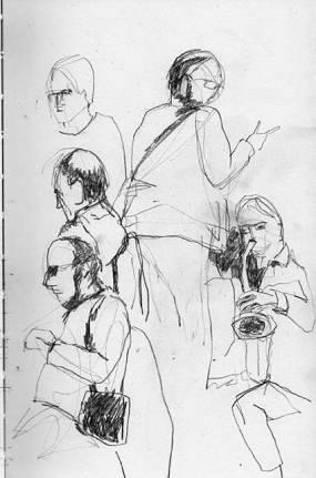 Musiker, Skizzenbuch