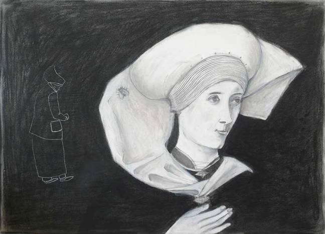 Frauenporträt nach einem alten Oelbild
