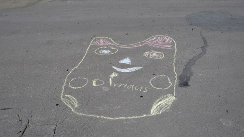 Zeichnungen mit Strassenmalkreide