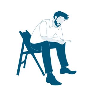 lesender Mann Illustration