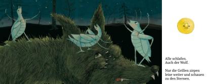 Illustration, Wolf und Grillen, Illustration
