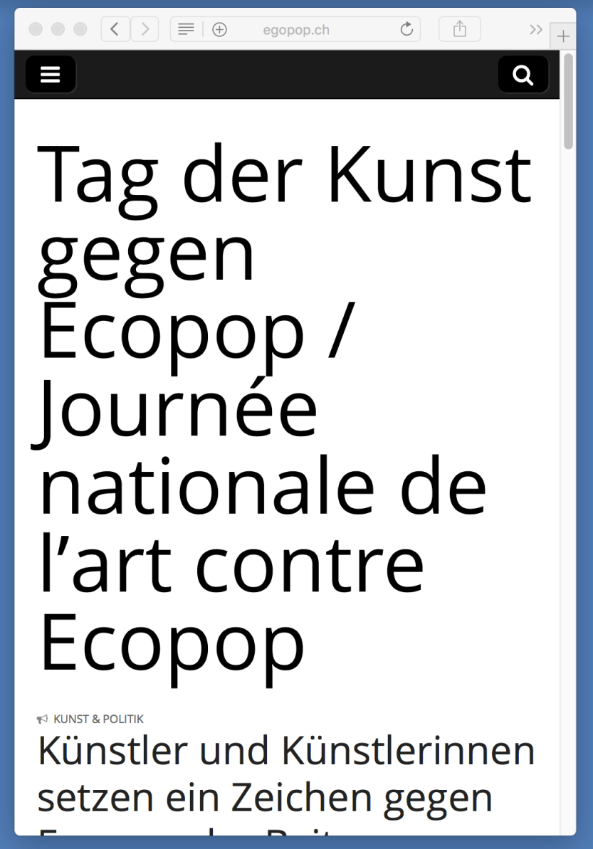 Ecopop Website