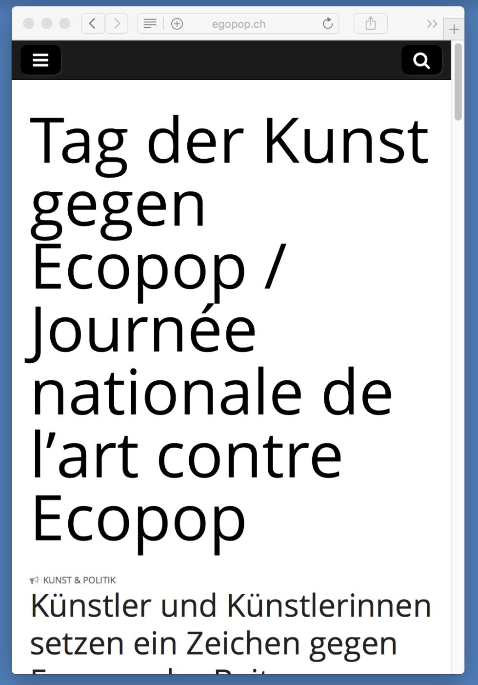 Ecopop Website
