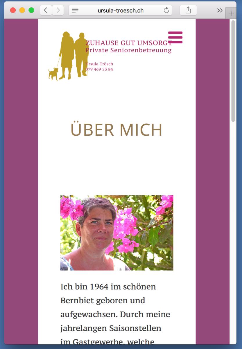 Ursula Trösch - Seniorenbetreuung