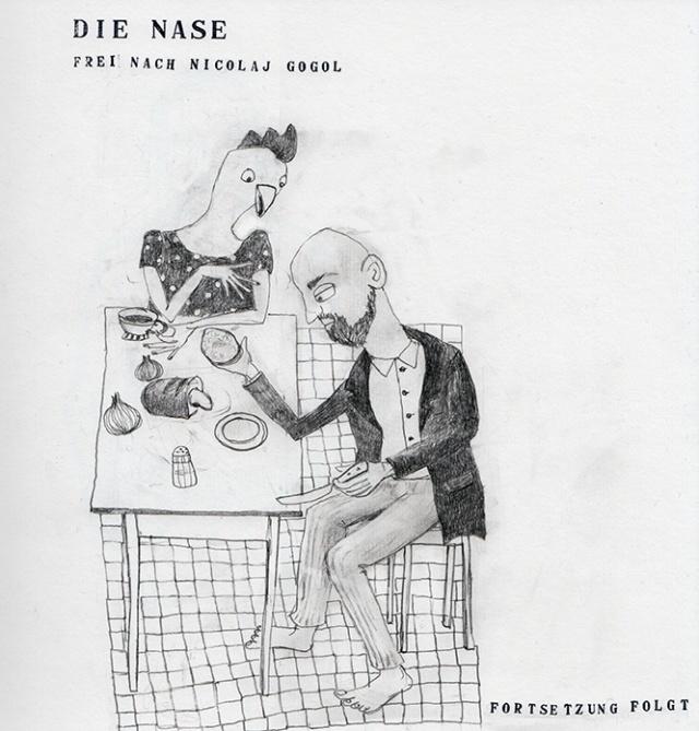 Die Nase von Gogol, Illustration