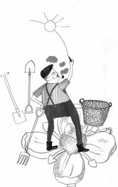 Illustration, Das Jahr des Gärtners