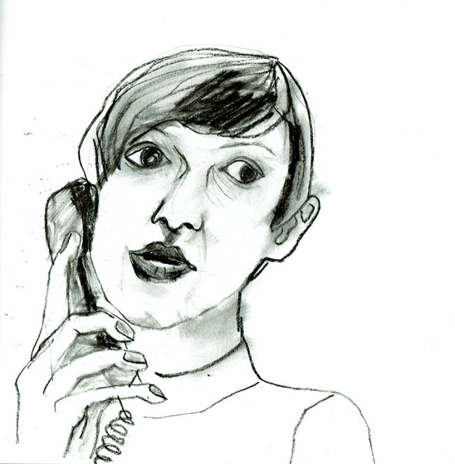 Skizze Porträt Illustration
