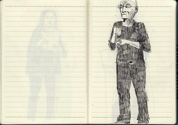 spoken word, life performance, Zeichnung