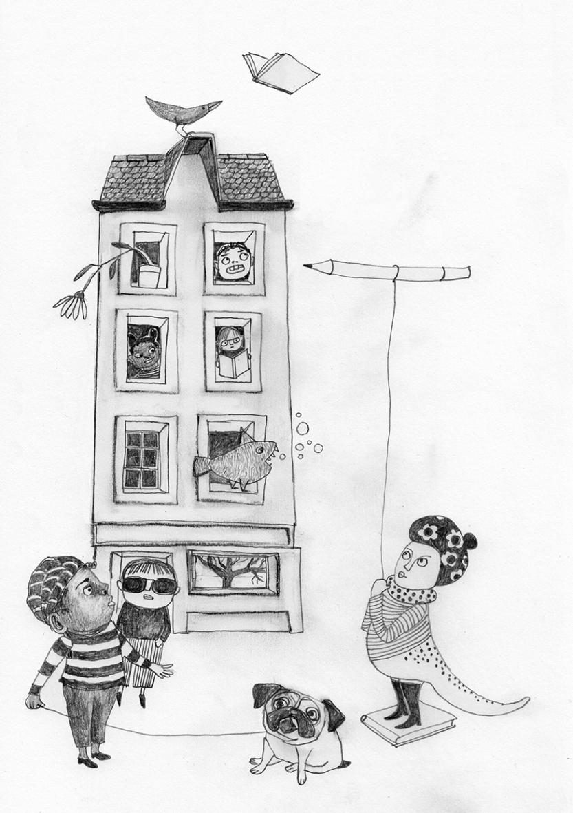 Illustration Kinderprogramm im Künstlerhaus