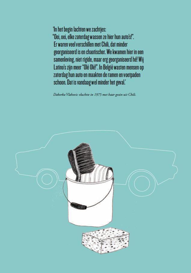 Autowaschen am Samstag, Illustration