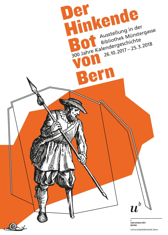 Hinkender Bot, Ausstellungs-Flyer