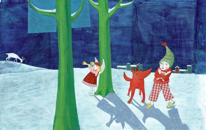 Lina und der Weihnachtsstern Illustration