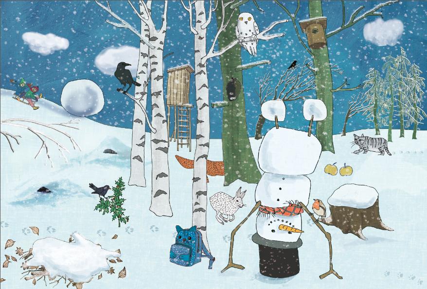 Adventskalender mit Schneemann