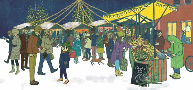 Illustration Weihnachtsmarkt