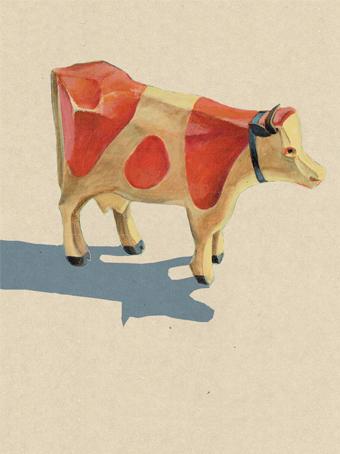 Kuh aus Holz