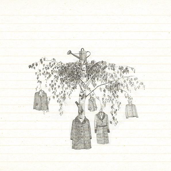 In der Birke hängen Kleider